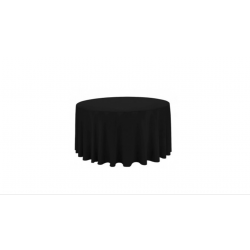 Nappe ronde noire