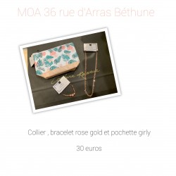 Collier, bracelet gold et...