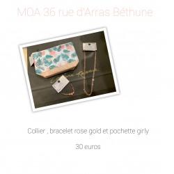 Collier, bracelet gold et...