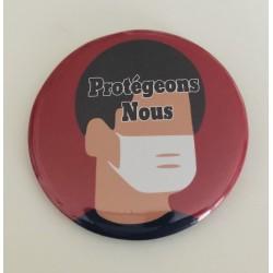 """Badge """" Protégeons nous """""""