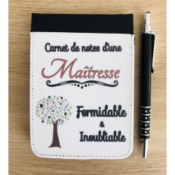 "Carnet de note "" Maîtresse..."