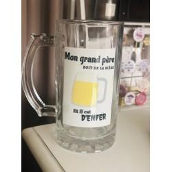 """Chope à bière """" Mon grand..."""