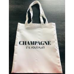 """Tote bag """" CHAMPAGNE s'il..."""