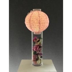 Lanterne lumineuse rose