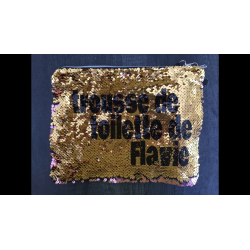 Trousse de toilette en sequin