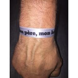 Bracelet mon père, mon héros