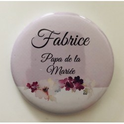 "Badge "" Papa de la mariée """