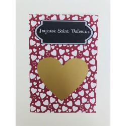 "Carte à gratter coeur ""..."